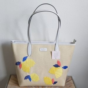 Kate Spade Straw Lemon Tote / Beach Bag